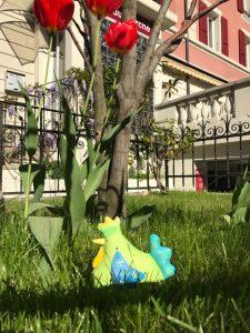 jardin, hoteldumarche-lausanne, fleurs, pâques